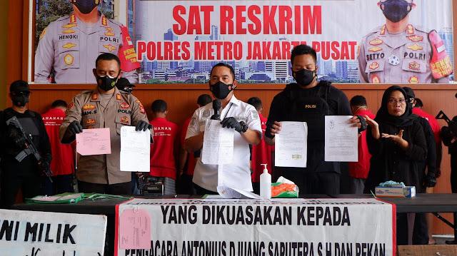 Mafia Tanah Yang Libatkan Preman Dibekuk Polres Metro Jakpus
