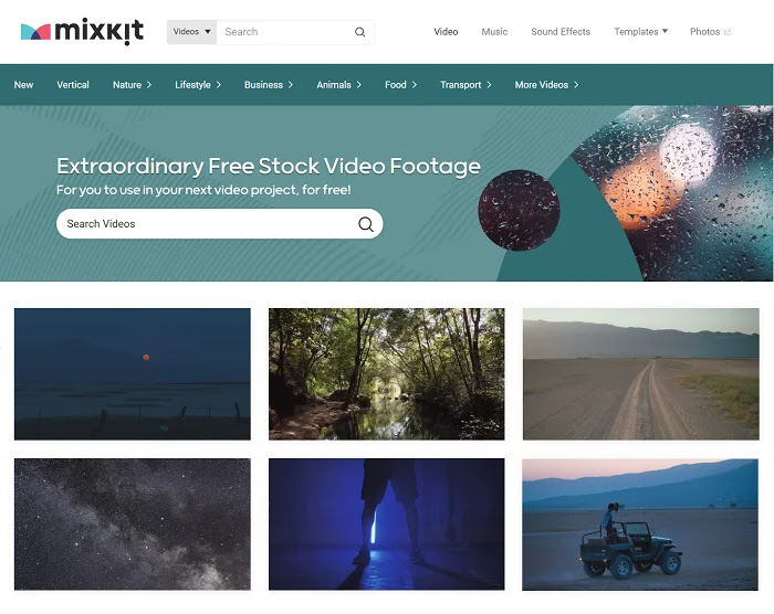 Mixkit provides you with an extensive collection of free stock videos