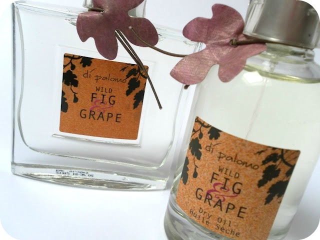 A picture of Di Palomo Wild Fig & Grape Perfume and Di Palomo Wild Fig & Grape Dry Oil