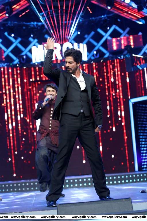Shah Rukh Khan attended the th Mirchi Music Awards
