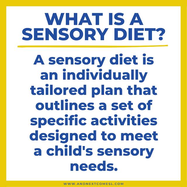 Sensory diet definition