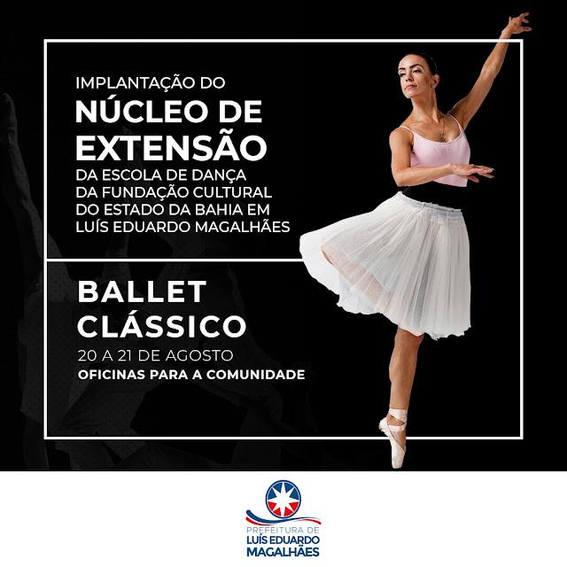 Luís Eduardo Magalhães é a primeira cidade da Bahia fora da Região Metropolitana de Salvador a receber núcleo de extensão da escola de dança da Funceb