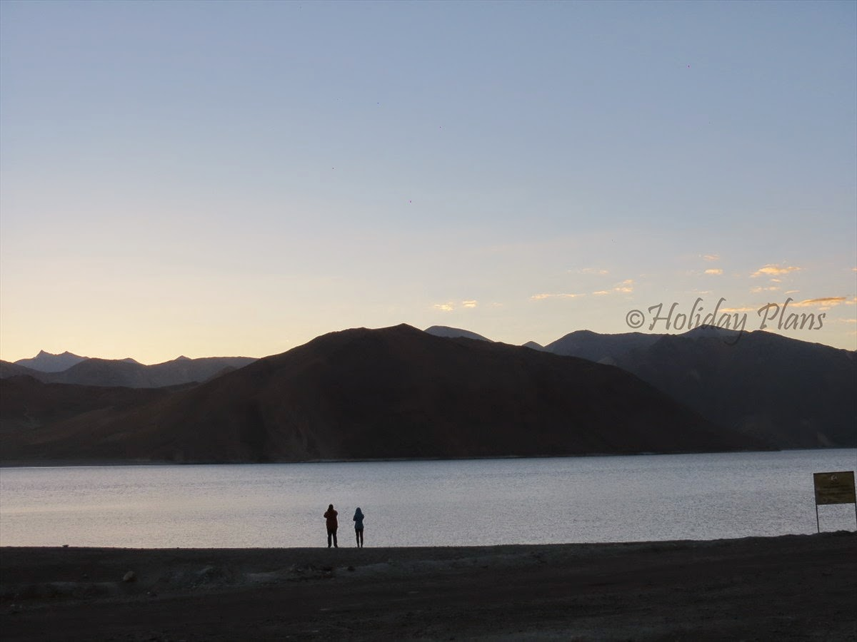 Early morning view at Pangong