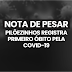 NOTA: Pilõezinhos registra 1º óbito causado pela Covid-19