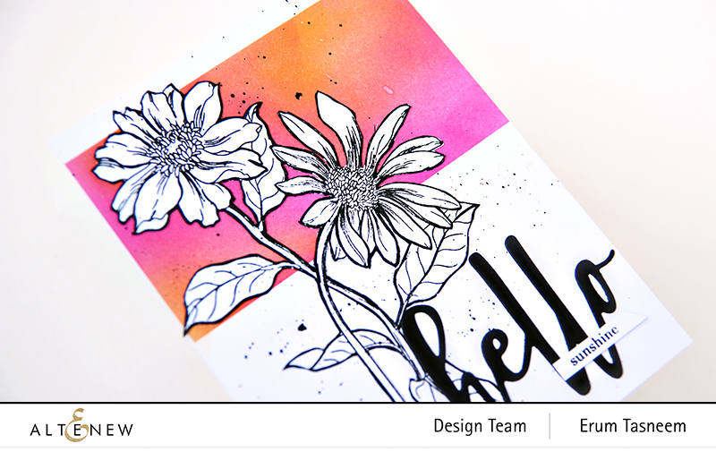 Altenew Wild Flora Stamp + Hello and Hugs Stamp and Die Set | Erum Tasneem | @p0digy0