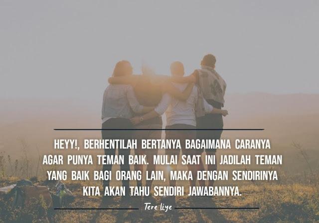 kata kata tere liye tentang sahabat