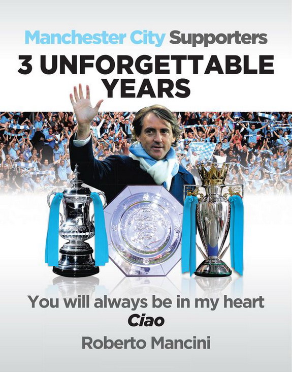 Roberto Mancini thanks Man City fans with full-page newspaper ad