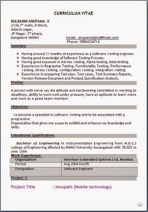 latest resume model