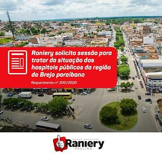 Nosso mandato está em contato permanente com os gestores do Brejo paraibano afirma Raniery no instagram