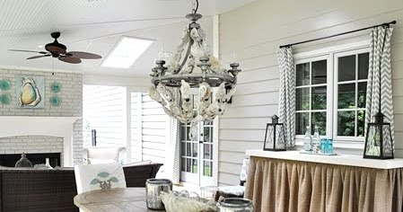 Diy oyster shell chandelier coastal decor ideas and interior diy oyster shell chandelier coastal decor ideas and interior design inspiration images aloadofball Image collections