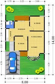 kumpulan denah rumah type 54 luas tanah 112 dua kamar