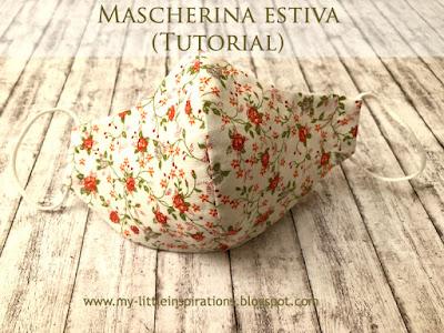 Covid-19: mascherina anatomica estiva con tasca e ferretto stringinaso (tutorial) - MLI - mascherina