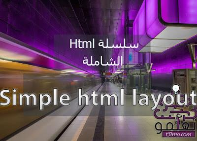 عمل صفحة Html بسيطة