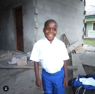 photos from the building davido is building for the utibe; the boy he promised to take of for life