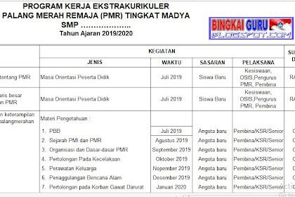 Download Program Kerja dan Jadwal Ekstrakurikuler PMR (Palang Merah Remaja) Madya SMP/MTs Tahun Ajaran 2019/2020