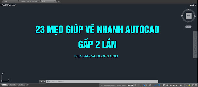 meo ve nhanh autocad