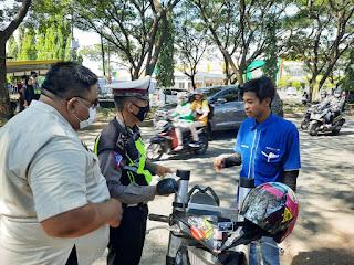 Kolaborasi dengan UPTD Samsat, Satlantas Polres Gowa Sasar Pemilik Kendaraan yang Menunggak Pajak