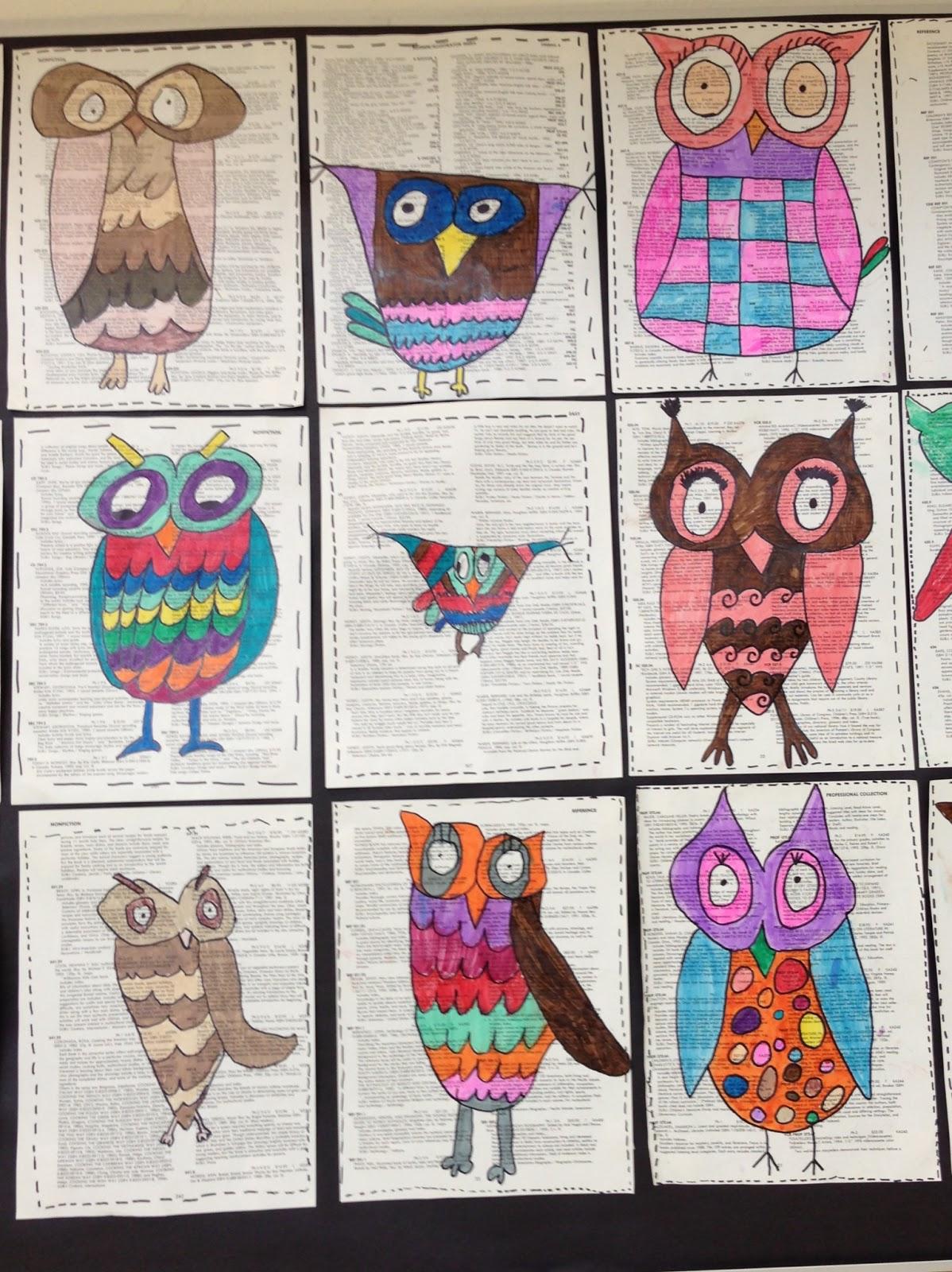 Apex Elementary Art: Owl always love art