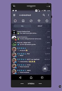 BBM Mod Dark Navy V3.3.1.21 Apk Terbaru full Version