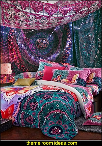 Decorating theme bedrooms maries manor boho style for Space themed tapestry