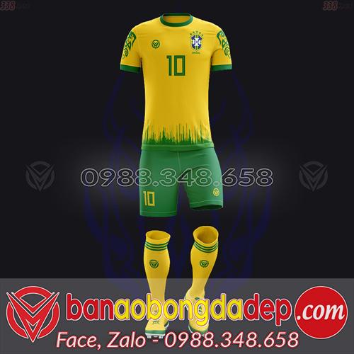 Áo Đội Tuyển Đặt May Theo Yêu Cầu - Mã BRAZIL-04