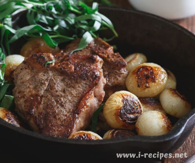 Skillet Lamb Chops And Cipollini Onions