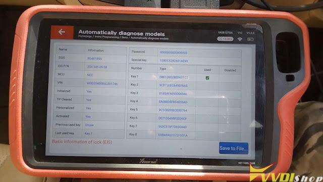 xhorse  vvdi key tool plus benz w204 2007 add key 6