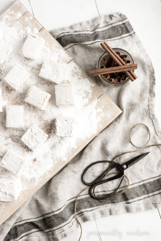 Homemade Cinnamon Marshmallows |  Simple ingredients and a bit of patience make a delicious homemade treat | personallyandrea.com