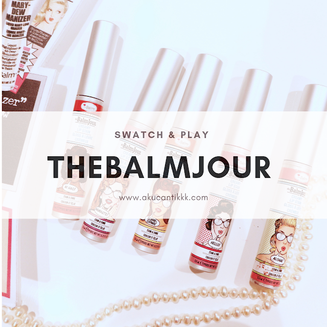 THE BALM JOUR & THE BALM PLUM YOUR PACKER SWATCH