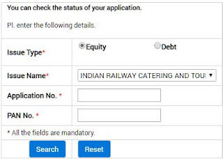 IRCTC IPO allotment status