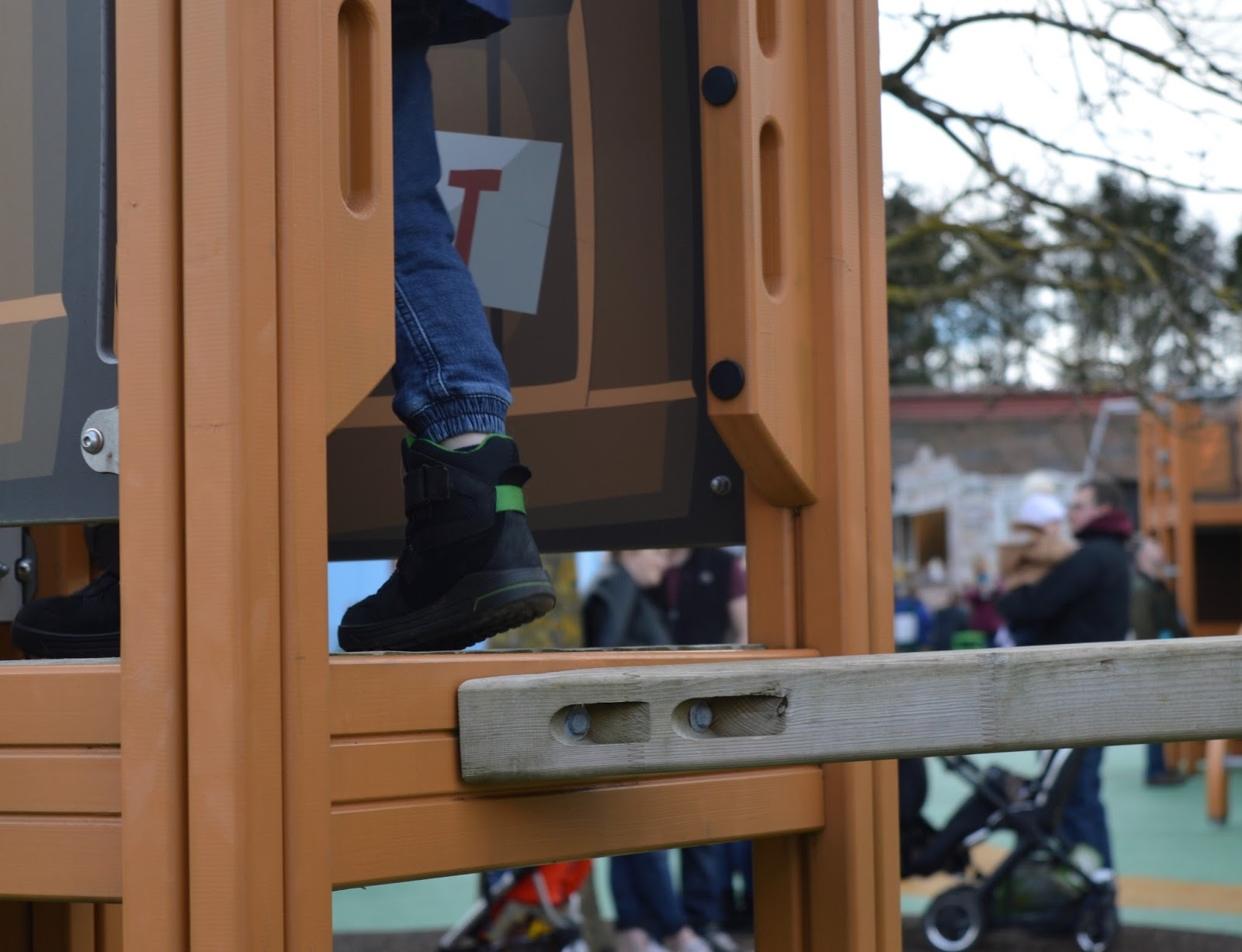 Visiting Angry Birds Activity Park at Lightwater Valley, North Yorkshire - kids GORE-TEX boots