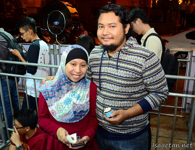 Number 1 in line, Mr Abdullah and wife would be the first to own Celcom's iPhone5S