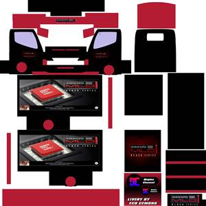 Livery Truck Canter Box Muhklas Djarum Super Mild