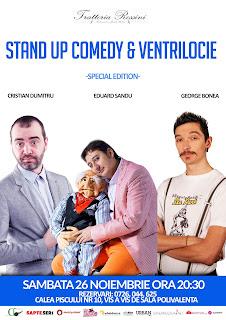 Stand-Up Comedy & Ventrilocie Sambata 26 Noiembrie Bucuresti | Trattoria Rossini