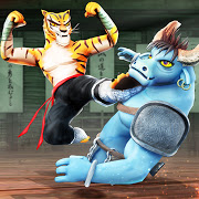 Download MOD APK Kung Fu Animal Fighting Games: Wild Karate Fighter Latest Version