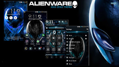 Download Tema Alienware Untuk Asus Zenfone ( ZenUI Themes )