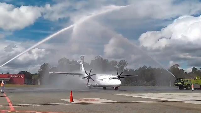 hoyennoticia.com, Con vuelo entre Santander y Antioquia, Colombia oficialmente dió apertura de cielos
