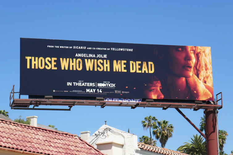 Those Who Wish Me Dead movie billboard