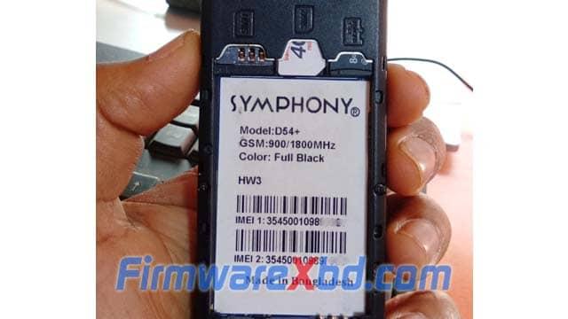 Symphony D54+ HW3 Flash File Download 100% Tested
