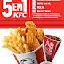 Sanduíche Buffalo Ranch e balde de frango com batata frita chegam ao KFC