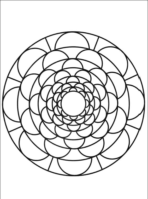 Mandalas coloring picture.
