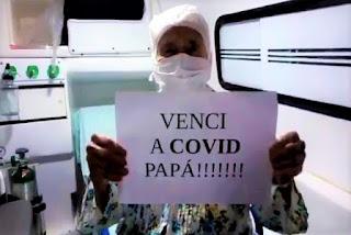 Mãe de Jotinha recebe alta médica após nove dias internada: 'Venci a Covid, papá'