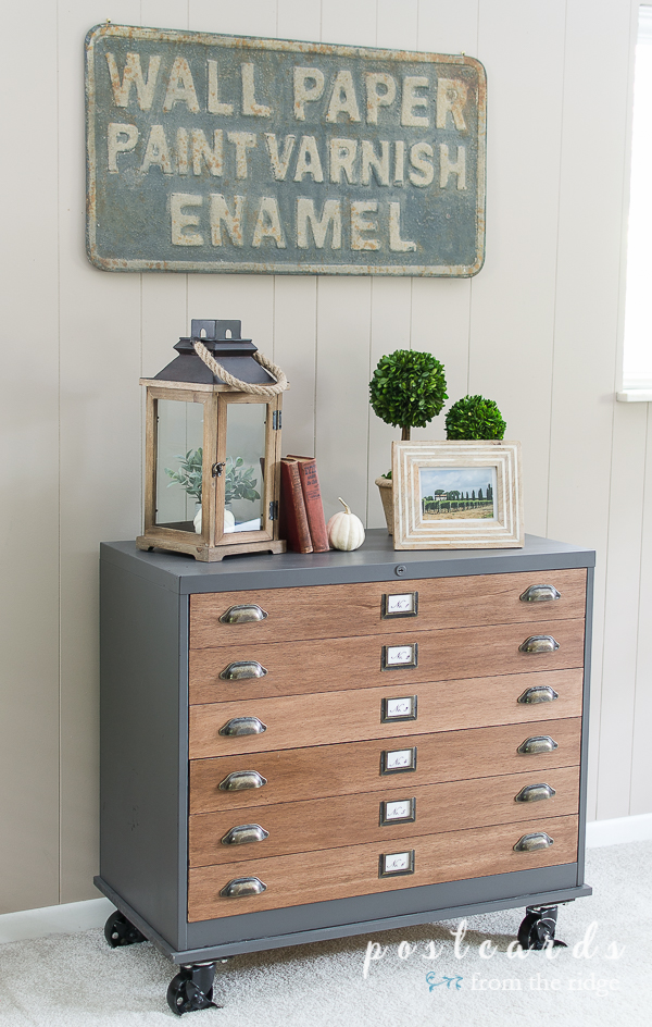 How To Update A Metal File Cabinet Postcards From The Ridge