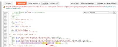 Copy Link Sitemap dan Simpan di Template Blogger