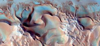 Surrealismo abstracto duna dunar dunas color calor sol azul textura mar