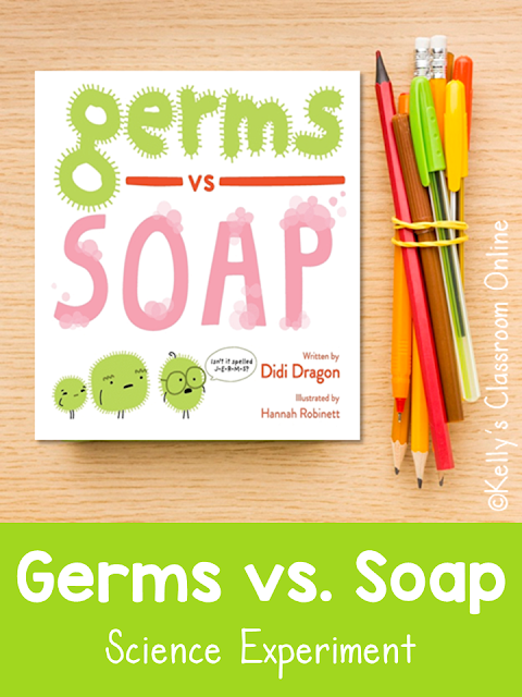 Learn about germs and the importance of washing your hands with this simple science demonstration and by reading Germs vs. Soap by Didi Dragon.