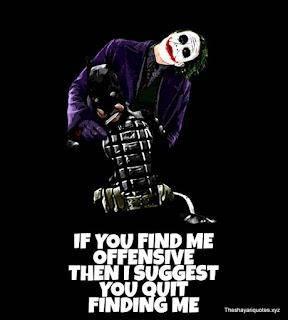 Motivational Joker Quotes with image   Joker Quotes attitude - Theshayariquotes.xyz