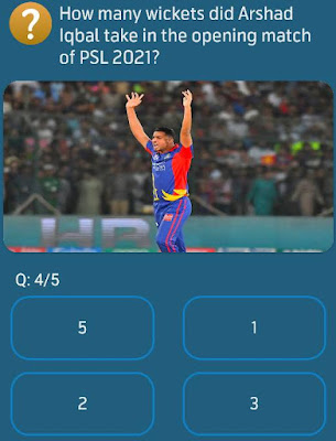 How many wickets did Arshad Iqbal take in the opening match of PSL 2021?