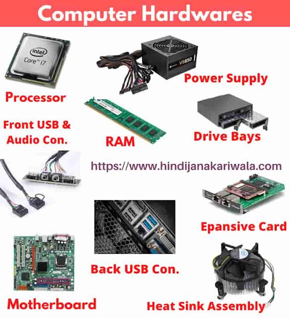 Parts Of Computer In Hindi - कंप्यूटर के सभी पार्ट