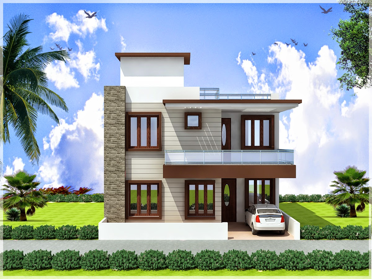 Duplex House Exterior Design Pictures In India - Front Design